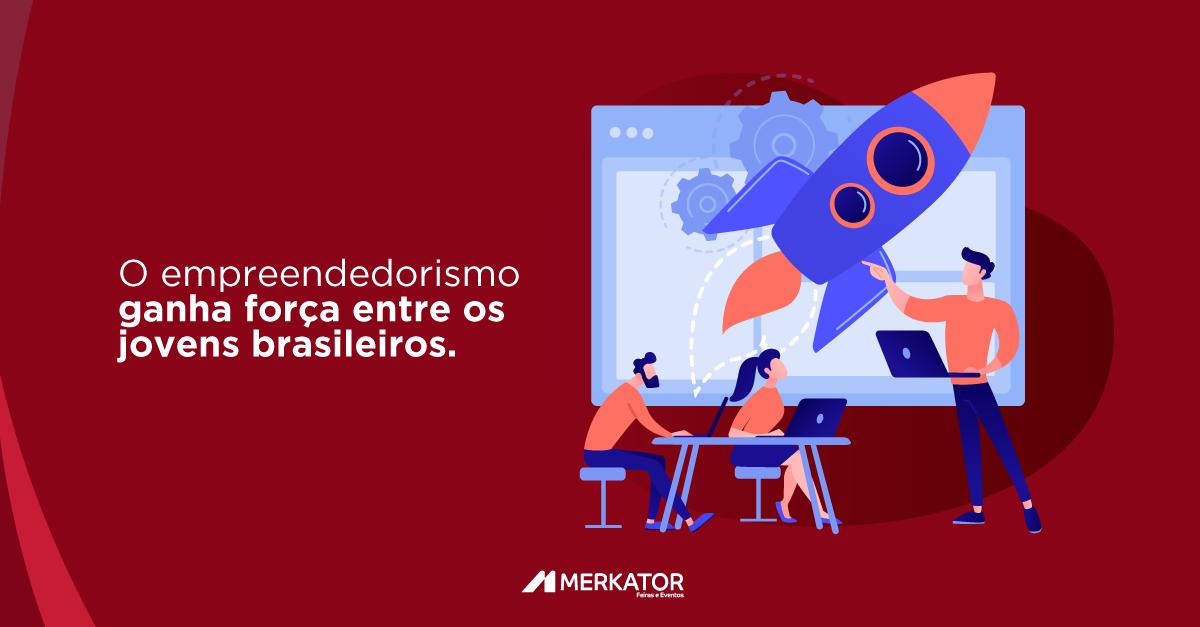 O empreendedorismo ganha força entre os jovens brasileiros.